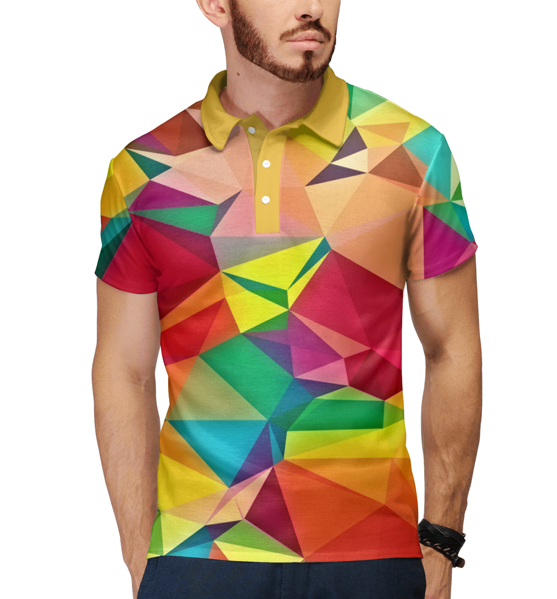 Купить Цветная абстракция, Printbar, Поло, ABS-277635-pol-2