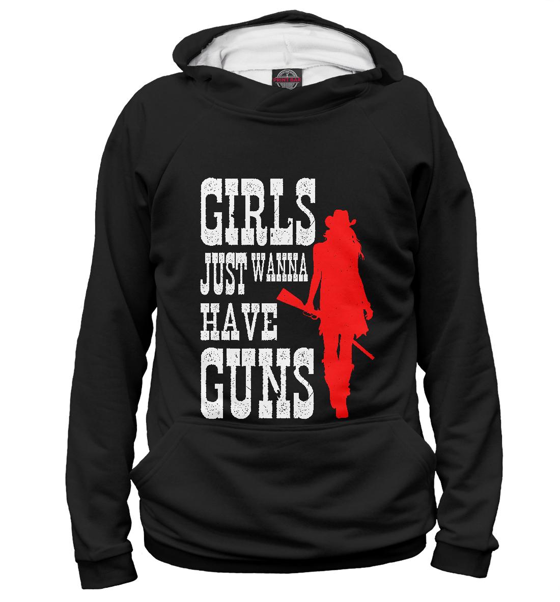 Купить Girls just wanna have guns, Printbar, Худи, DLR-451876-hud-2