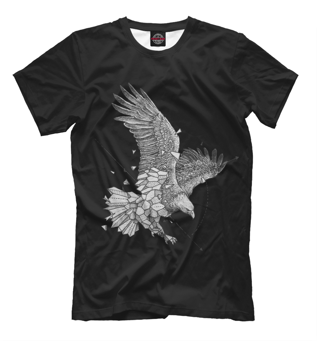 Купить Geometric dark eagle, Printbar, Футболки, HIP-658767-fut-2