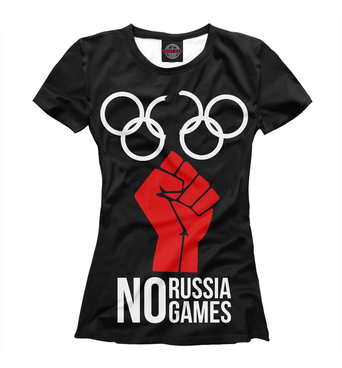 Купить No Russia No Games, Printbar, Футболки, VSY-920350-fut-1