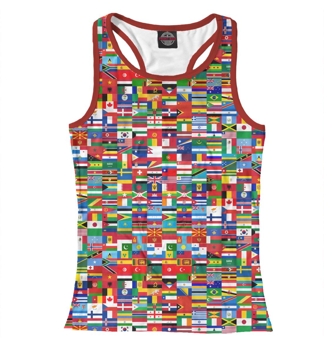 Купить Флаги мира, Printbar, Майки борцовки, HIP-570419-mayb-1