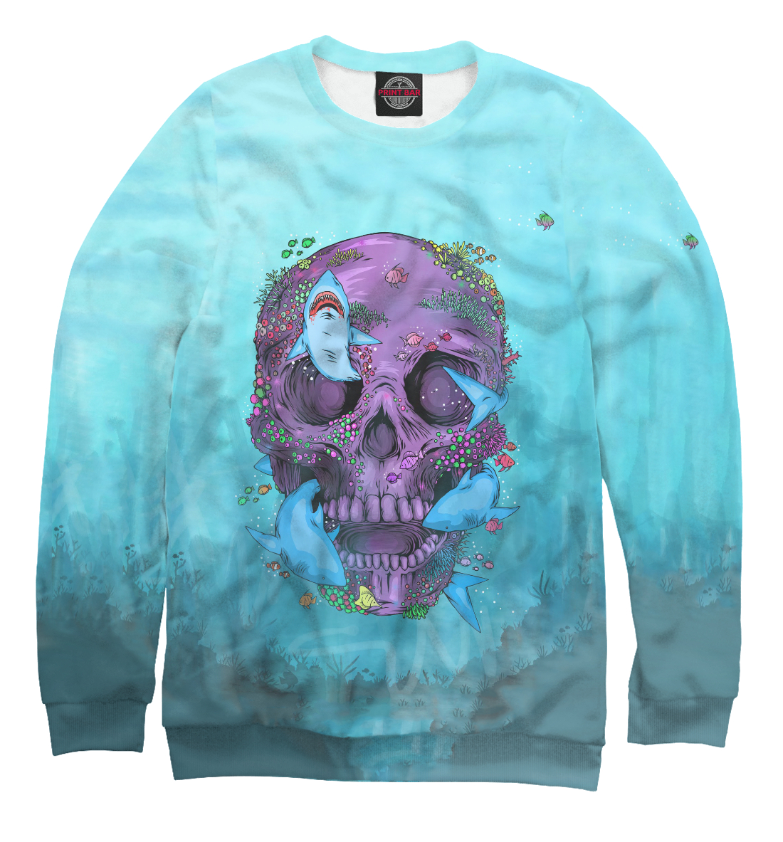 Купить Sea Skull, Printbar, Свитшоты, HIP-265177-swi-1