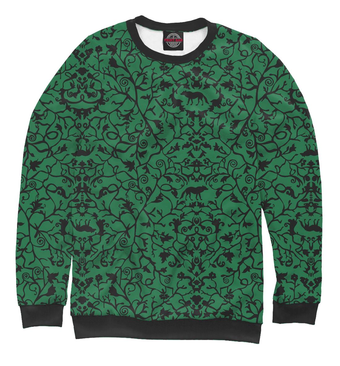 Купить Abstract Wolf Green, Printbar, Свитшоты, ABS-712445-swi-1