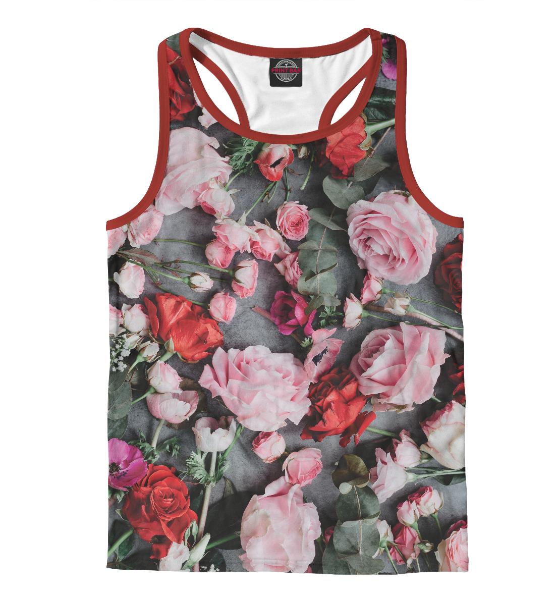 Купить Упавшие цветы, Printbar, Майки борцовки, CVE-613766-mayb-2