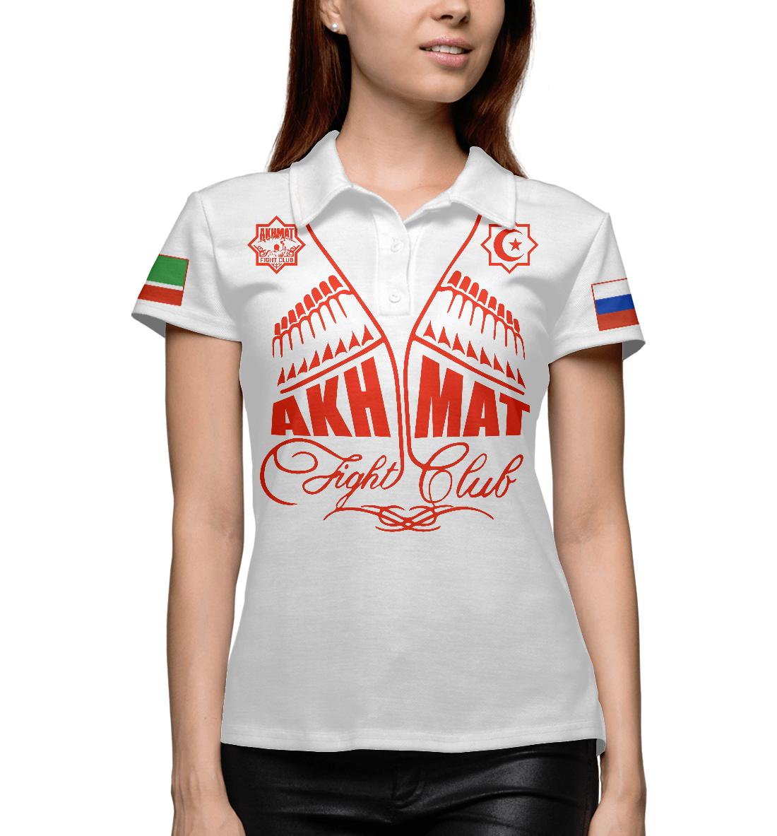 Купить Fight Club Akhmat White, Printbar, Поло, AFC-571782-pol-1