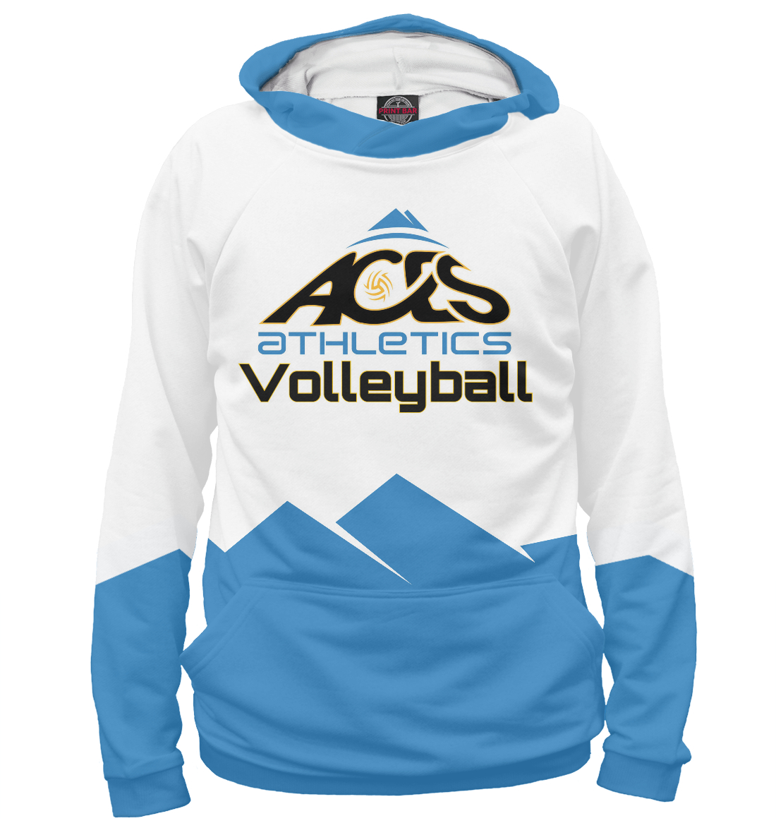 Купить Aces Athletics volleyball, Printbar, Худи, VLB-299450-hud-1