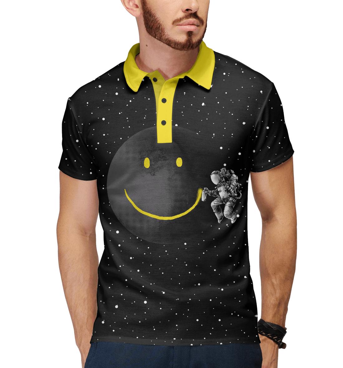 Лунная улыбка, Printbar, Поло, HIP-545013-pol-2  - купить со скидкой