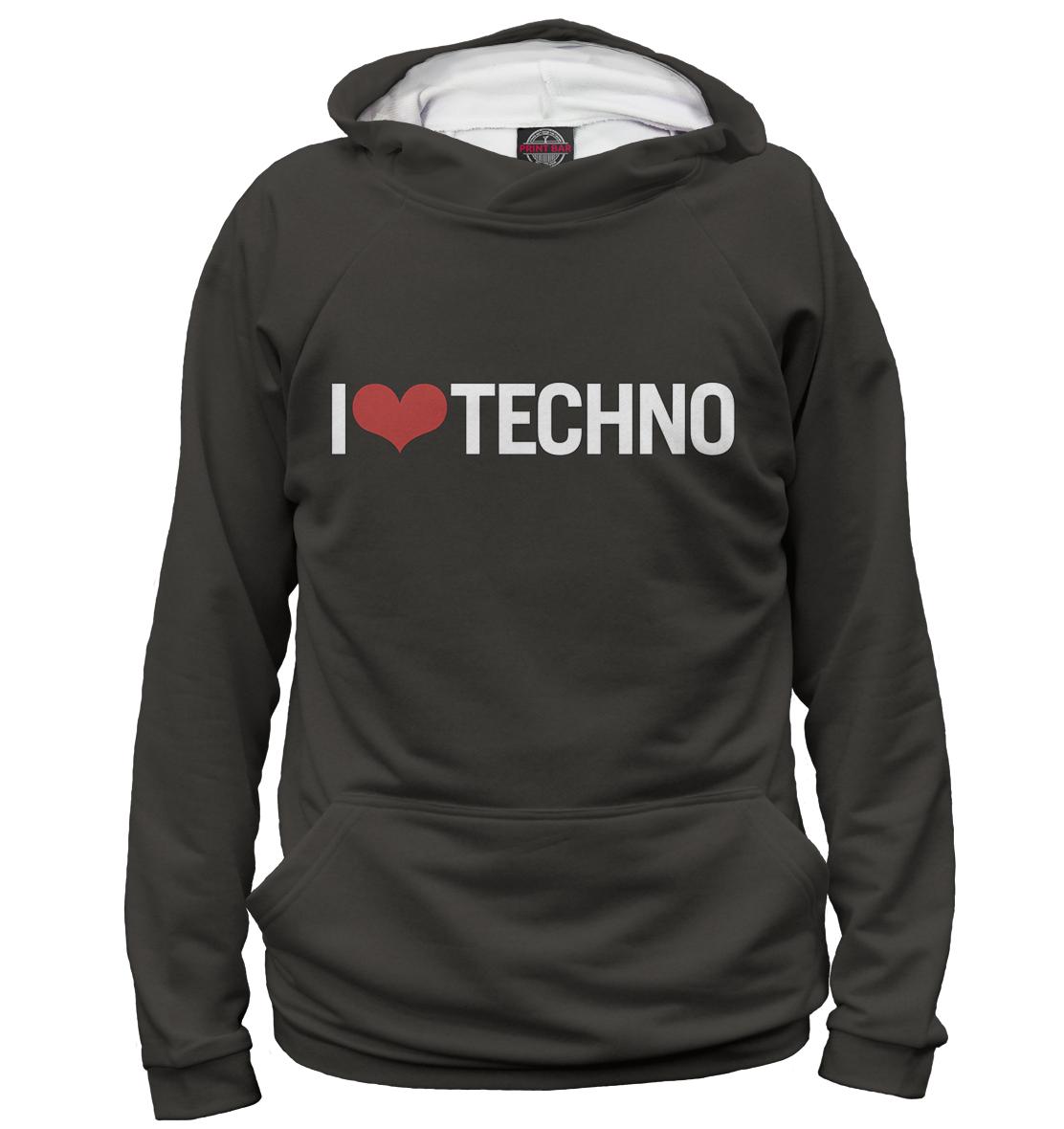 Купить I Love Techno, Printbar, Худи, TEC-750803-hud-1