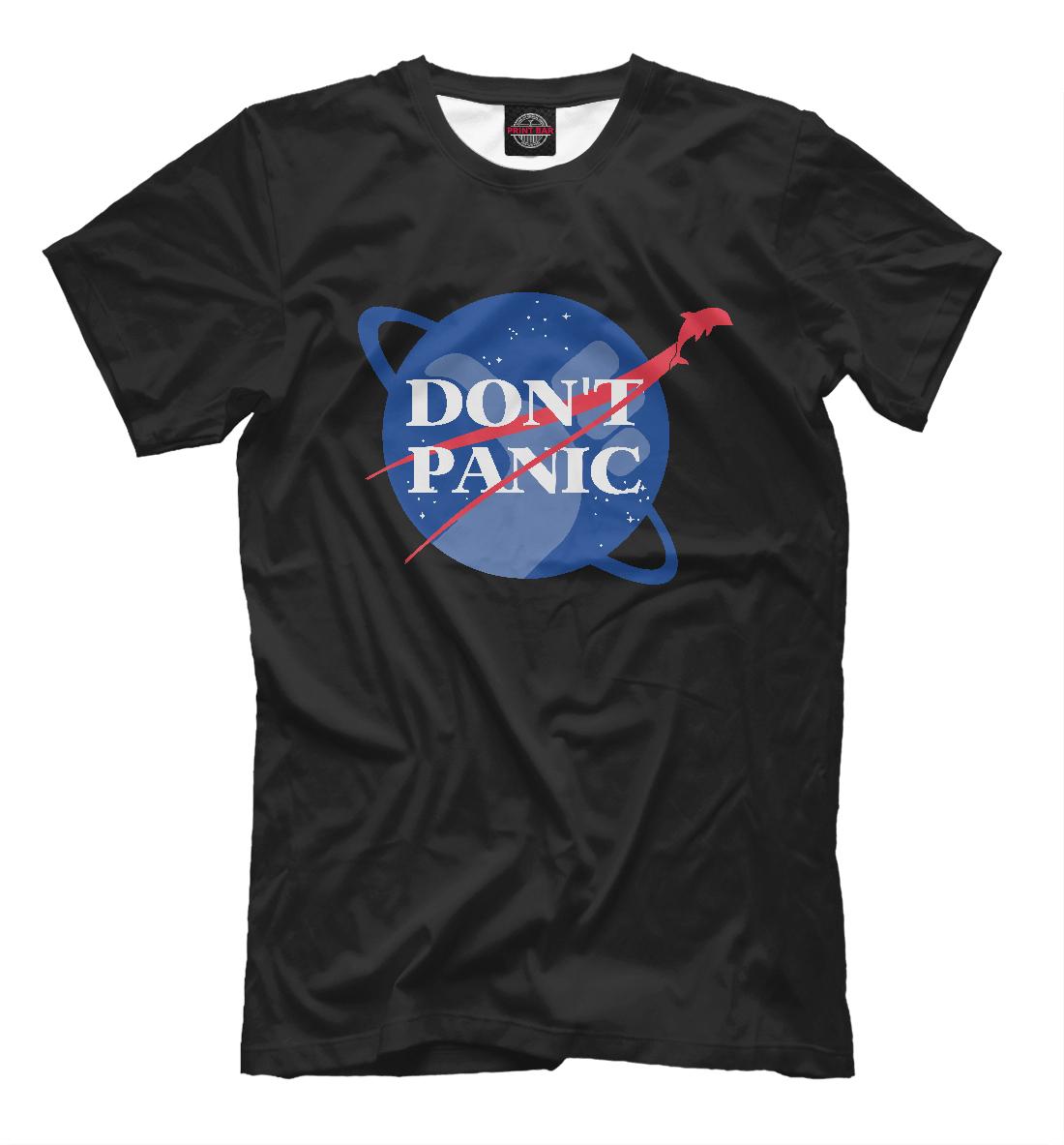Купить NASA Dont Panic, Printbar, Футболки, HIP-915662-fut-2