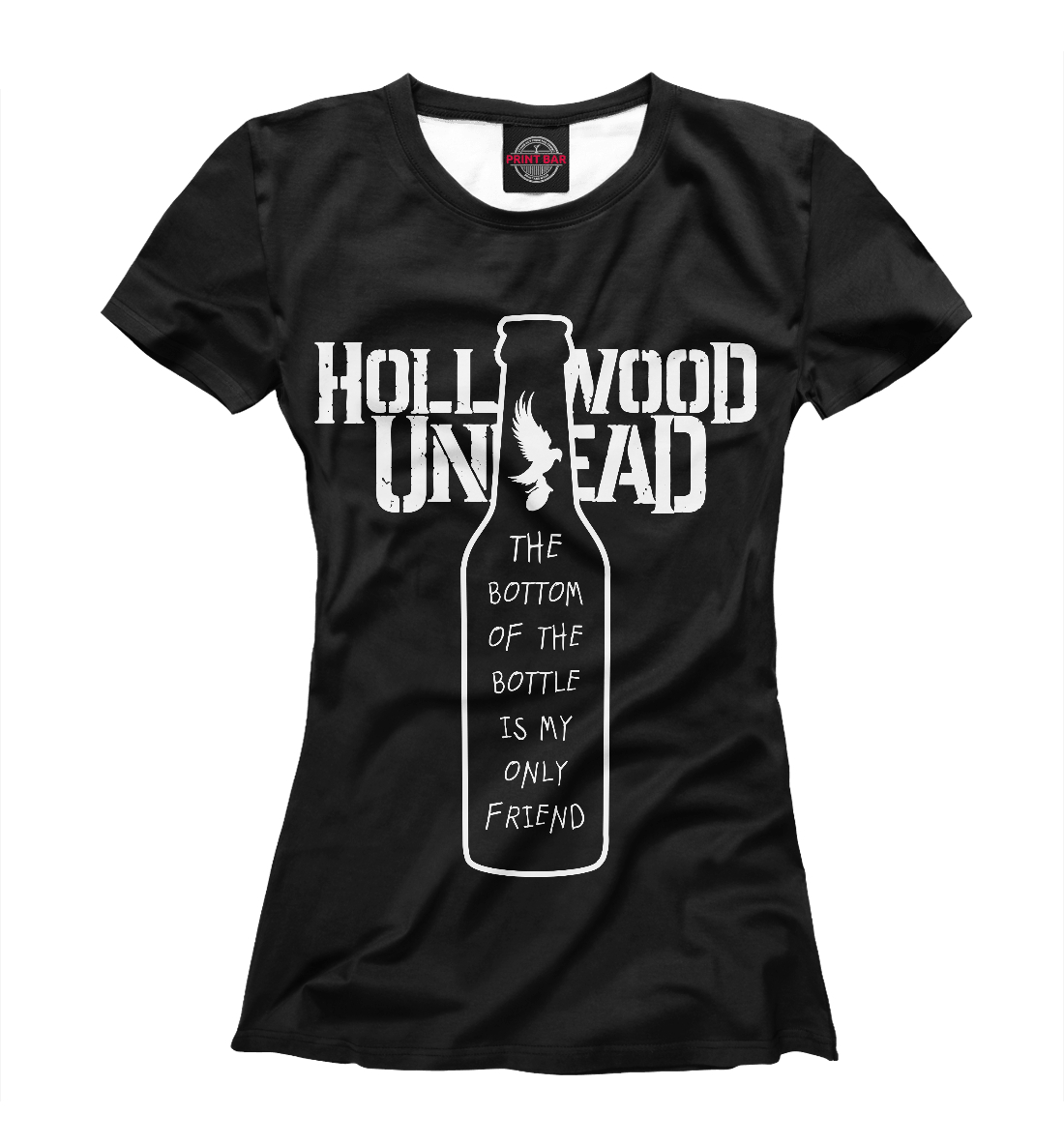 Купить Hollywood Undead Bullet lyrics, Printbar, Футболки, HLW-460040-fut-1