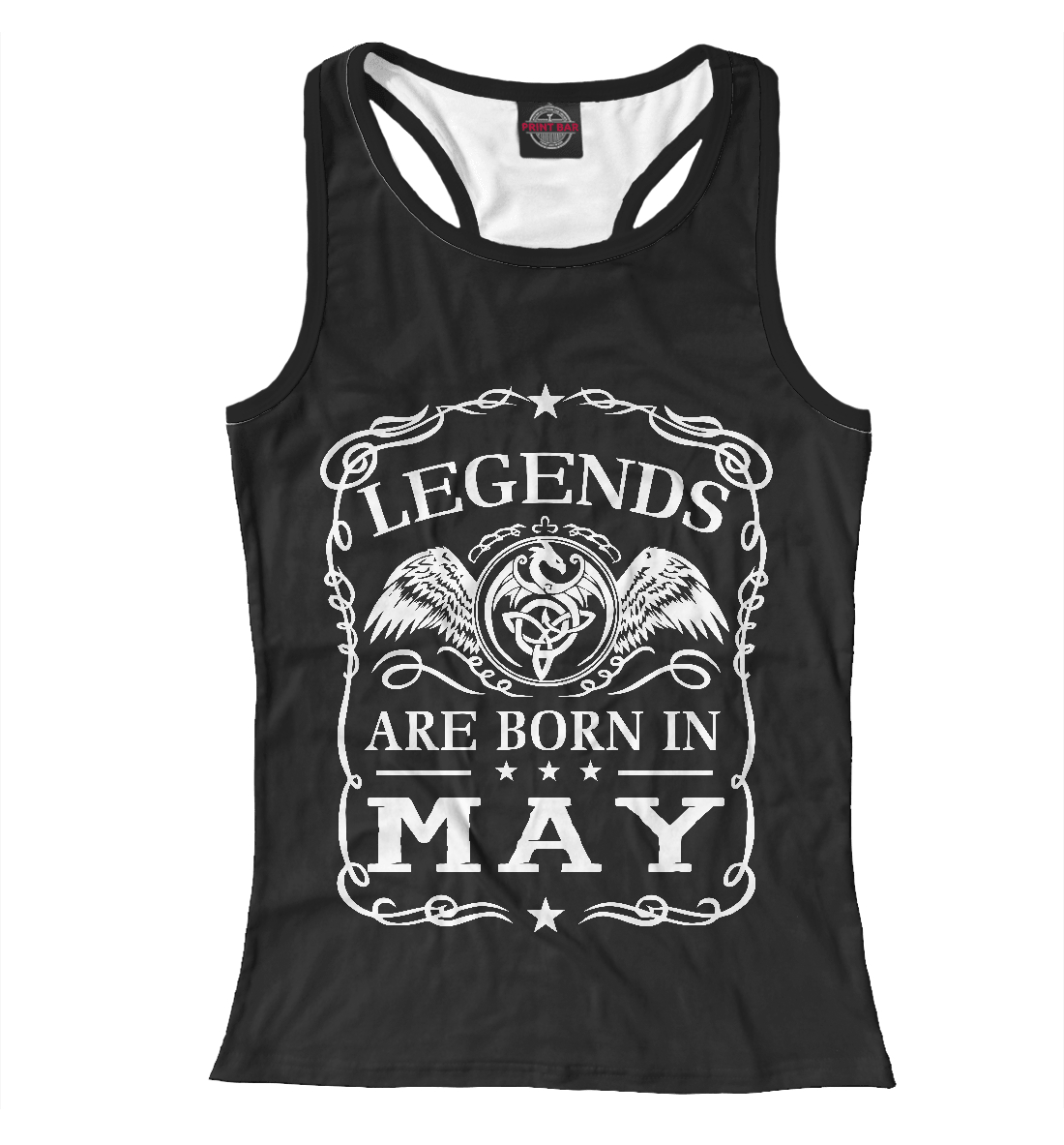 Легенды рождаются в мае, Printbar, Майки борцовки, RZP-551307-mayb-1  - купить со скидкой