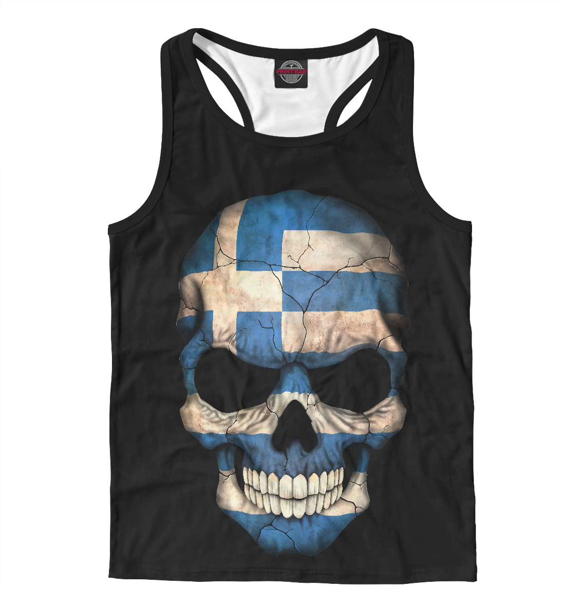 Череп - Греция, Printbar, Майки борцовки, CTS-687350-mayb-2  - купить со скидкой