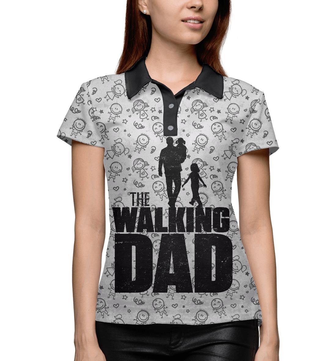 Walking Dad, Printbar, Поло, HOD-465409-pol-1  - купить со скидкой