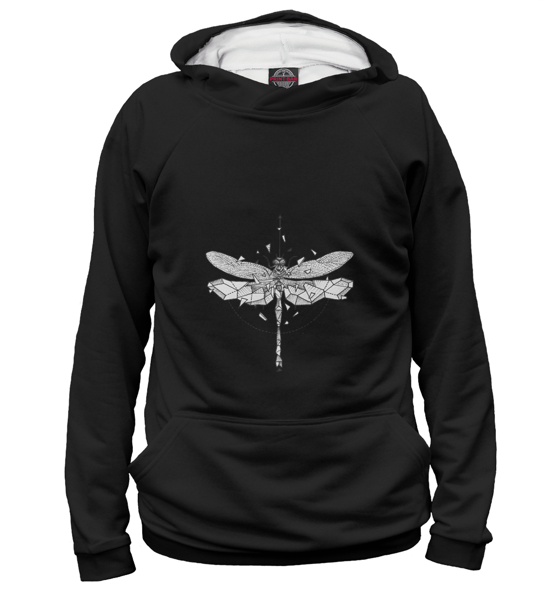 Купить Geometric dark dragonfly, Printbar, Худи, HIP-238180-hud-1