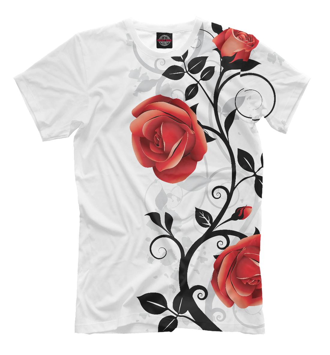 Купить Розы на снегу, Printbar, Футболки, CVE-869613-fut-2