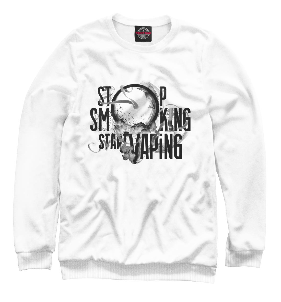 Купить Stop Smoking Start VAping, Printbar, Свитшоты, APD-306842-swi-2