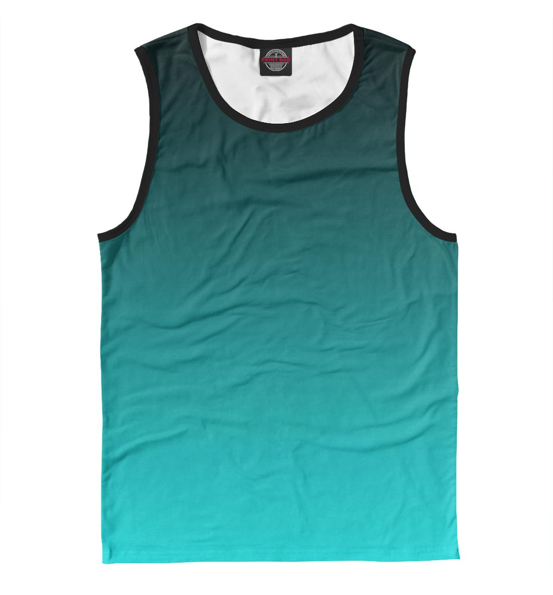 Купить Градиент Голубой в Черный, Printbar, Майки, CLR-276598-may-2