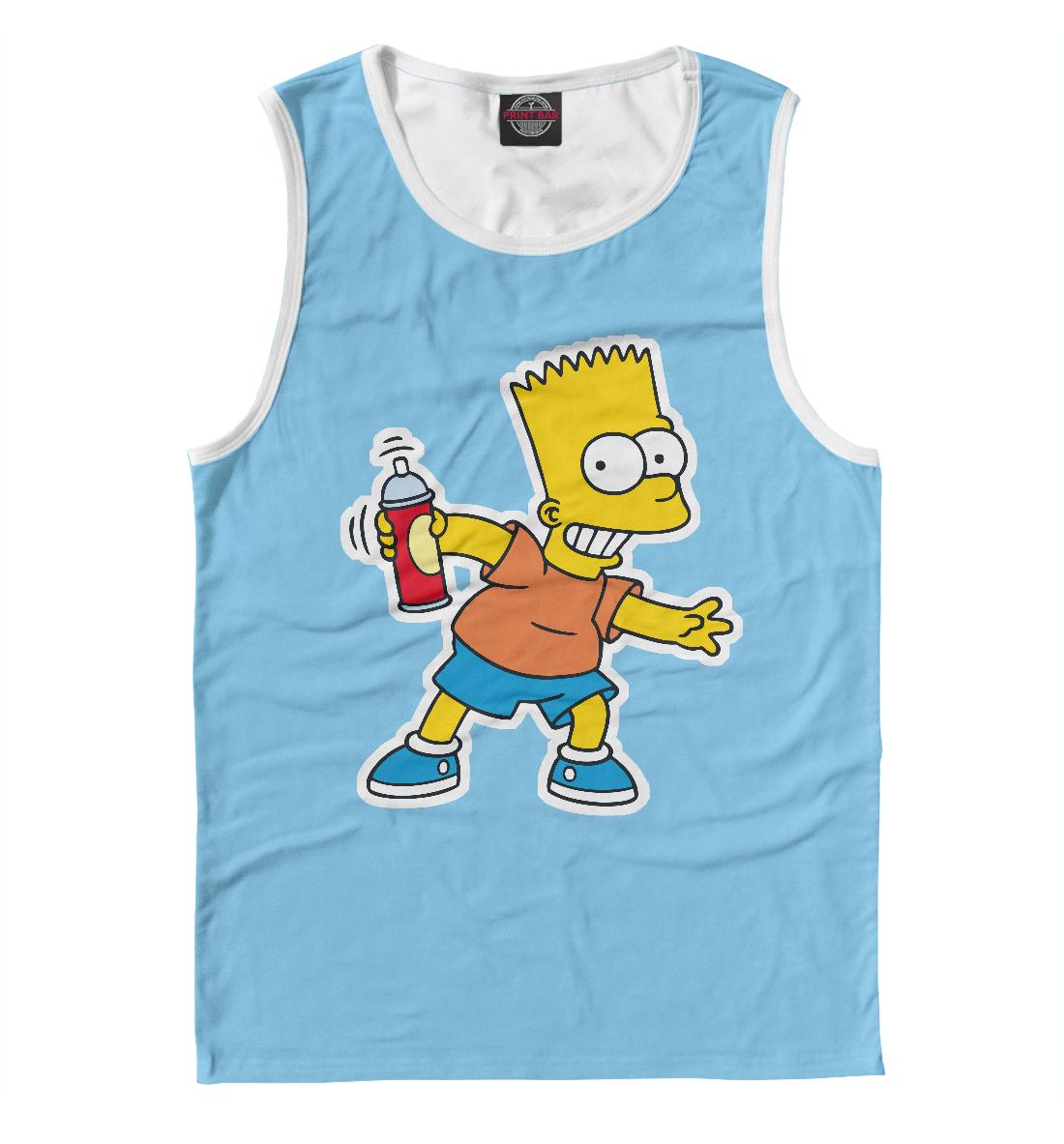 Купить Барт Симпсон с баллончиком, Printbar, Майки, SIM-737217-may-2
