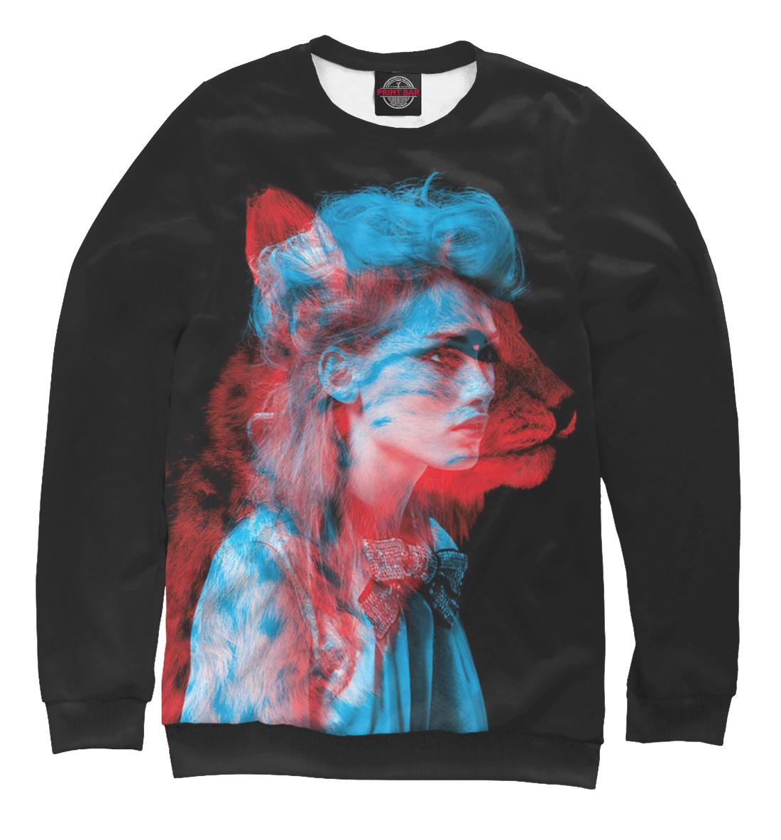 Купить Девушка кошка 3D, Printbar, Свитшоты, PSY-440621-swi-1