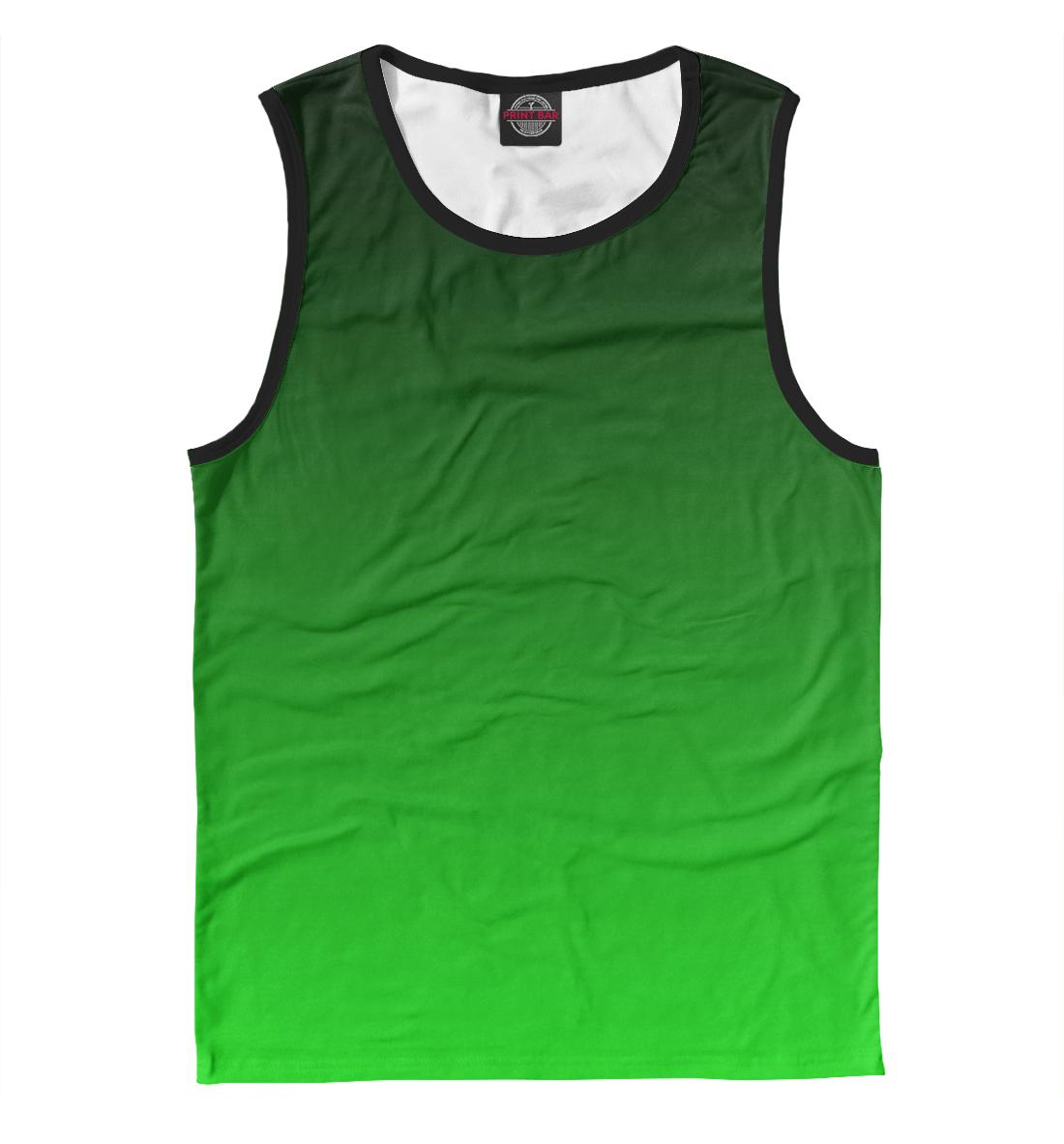 Купить Градиент Зеленый в Черный, Printbar, Майки, CLR-327769-may-2