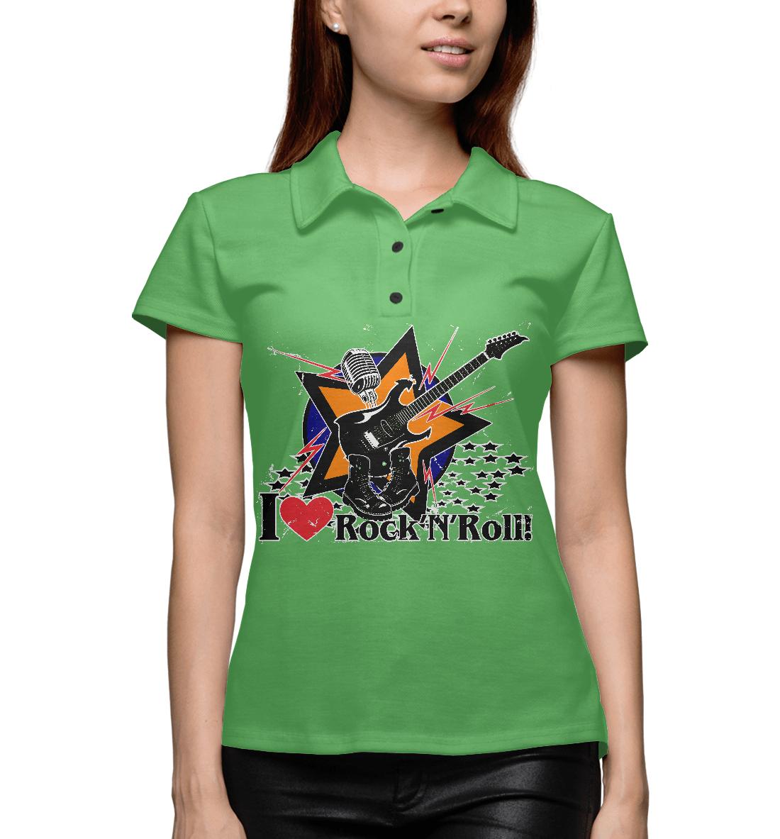 Купить I love Rock-n-nRoll, Printbar, Поло, RCK-265320-pol-1