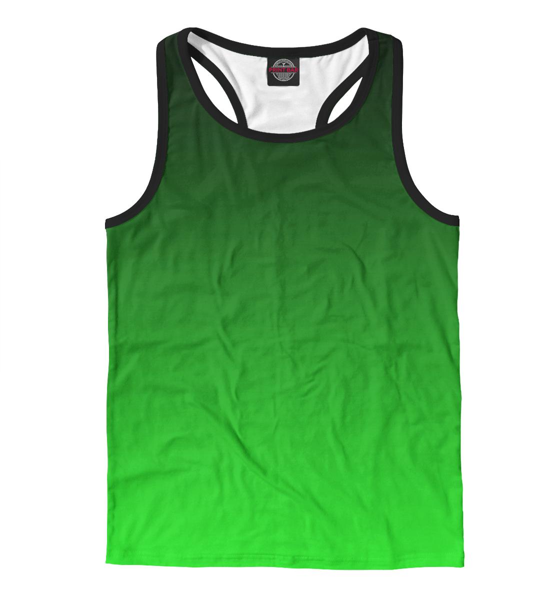 Купить Градиент Зеленый в Черный, Printbar, Майки борцовки, CLR-327769-mayb-2
