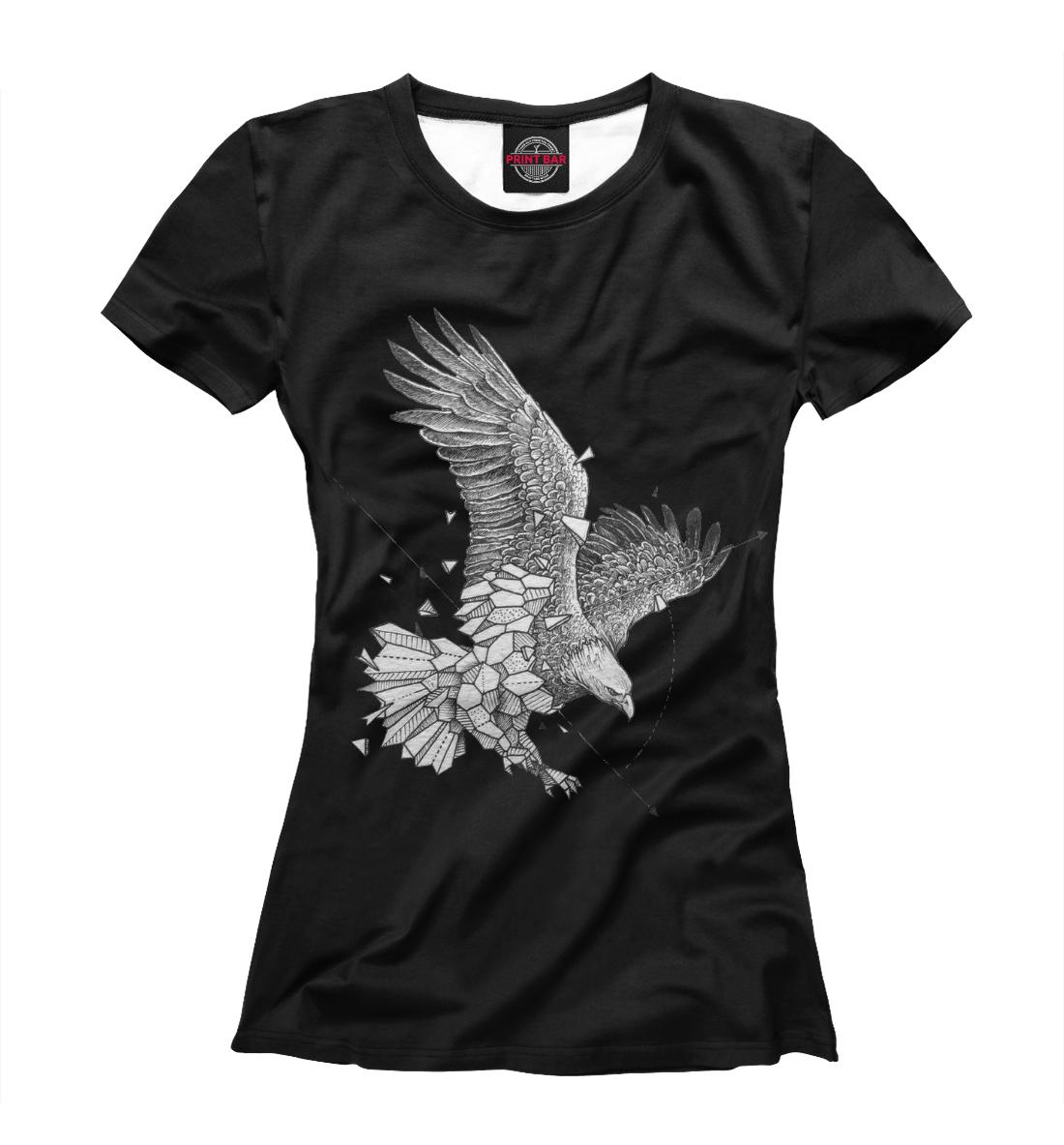 Купить Geometric dark eagle, Printbar, Футболки, HIP-658767-fut-1