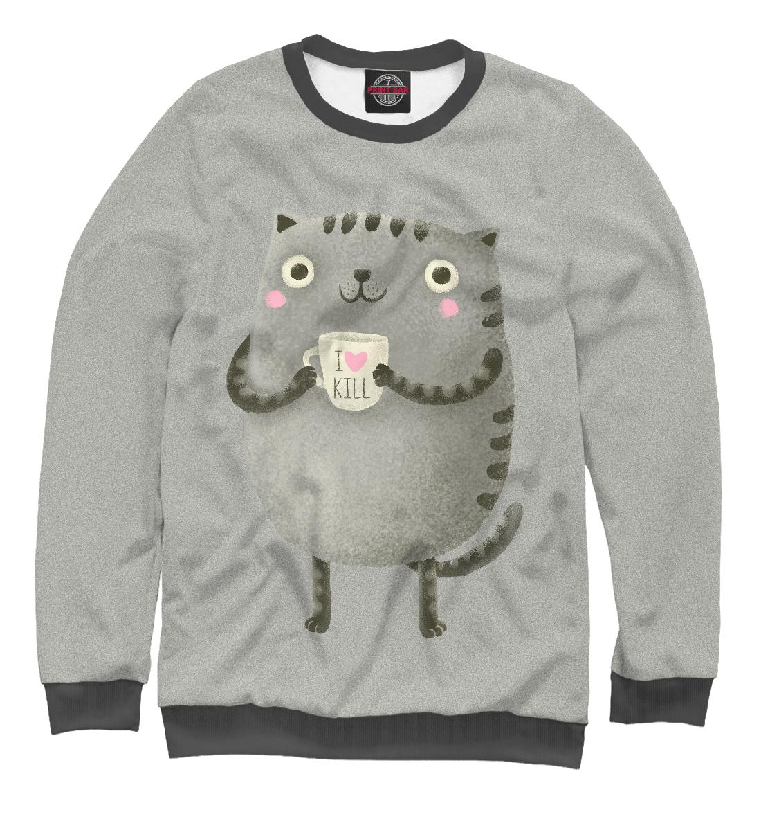 Купить Cat Love Kill, Printbar, Свитшоты, CAT-336098-swi-2