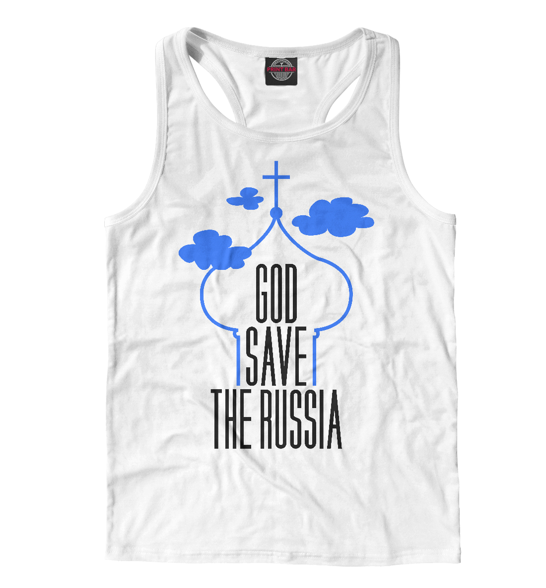 Купить God save Russia, Printbar, Майки борцовки, VSY-589104-mayb-2