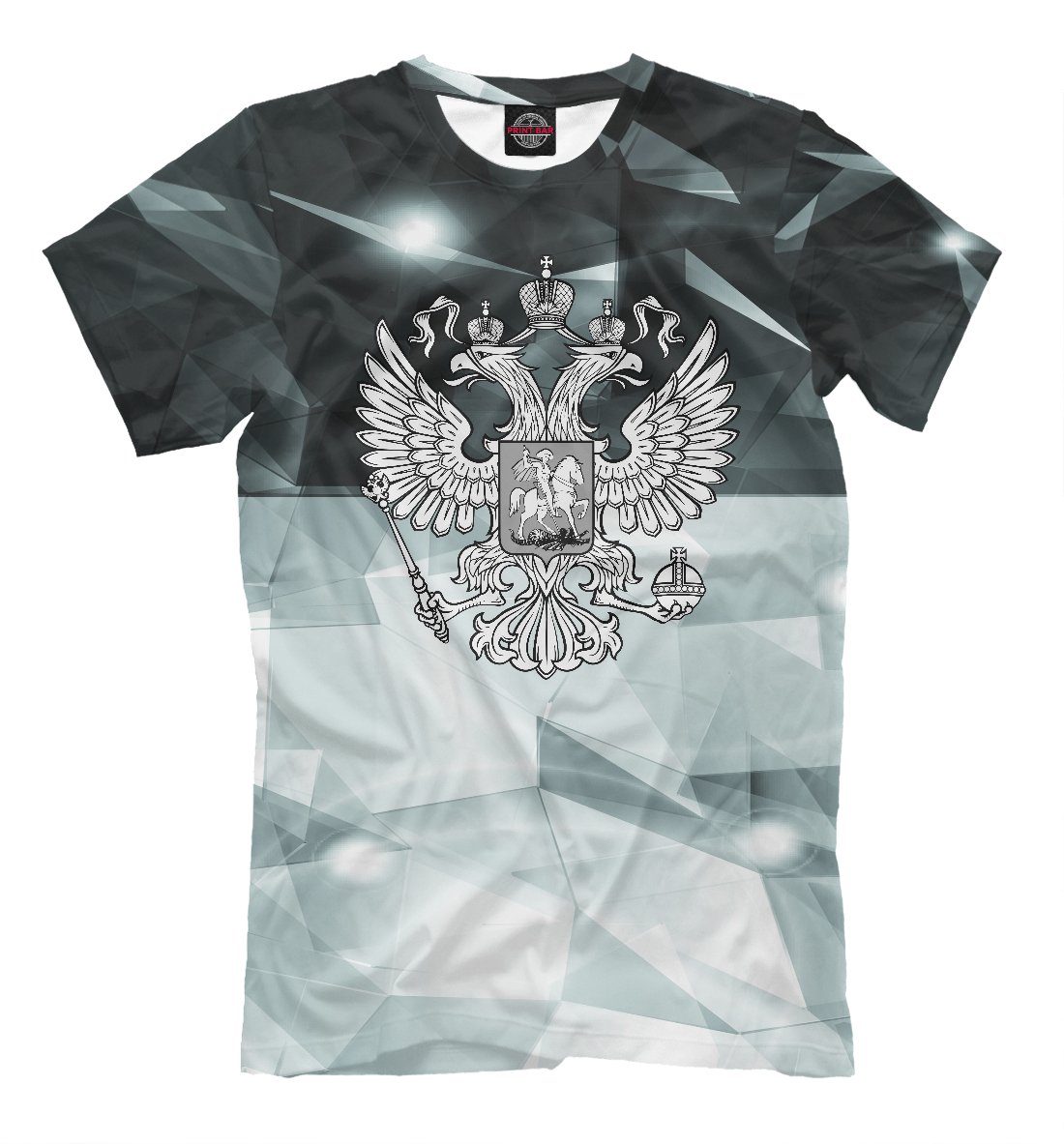 Купить Герб России Black&White, Printbar, Футболки, SRF-678654-fut-2
