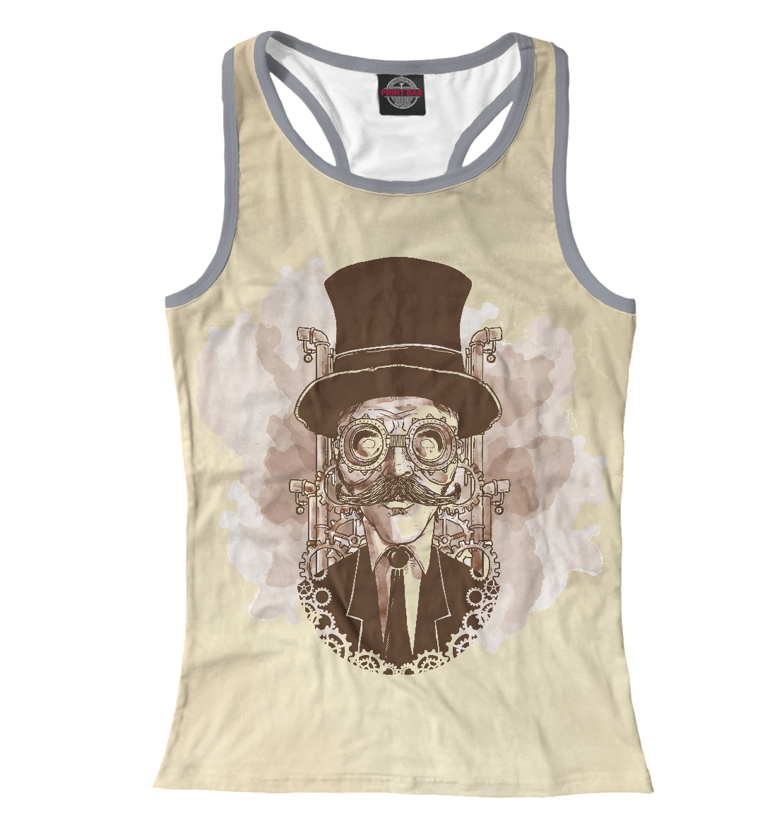 Vintage hand painted steampunk man
