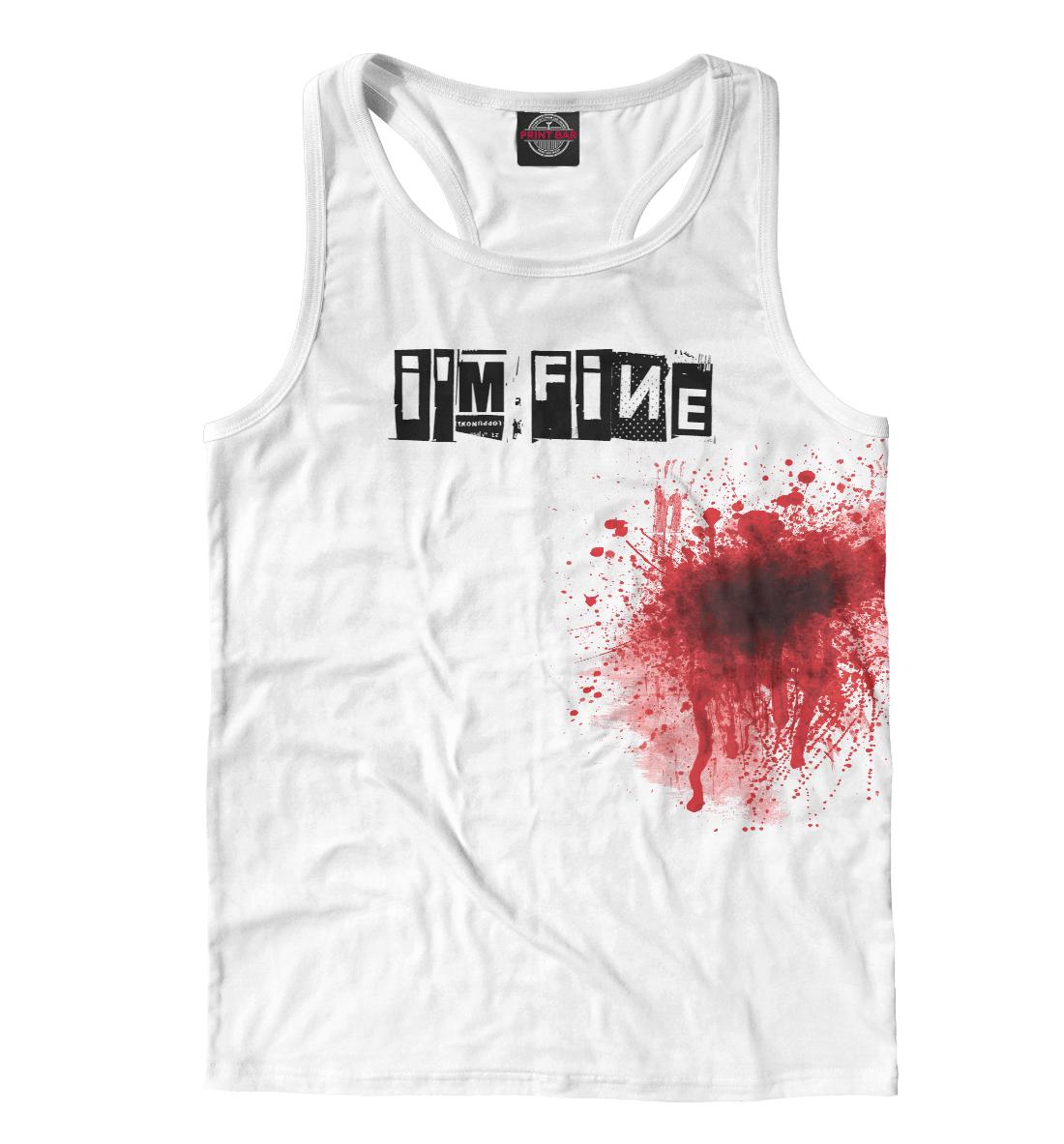 Купить Blood [i'm fine], Printbar, Майки борцовки, APD-328783-mayb-2