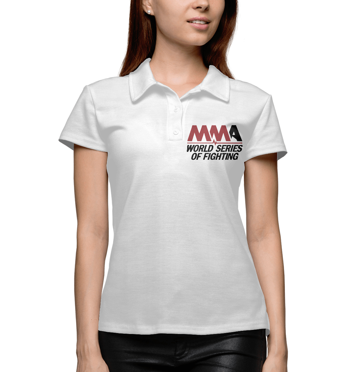 Купить MMA World Series Of Fighting, Printbar, Поло, MNU-873955-pol-1