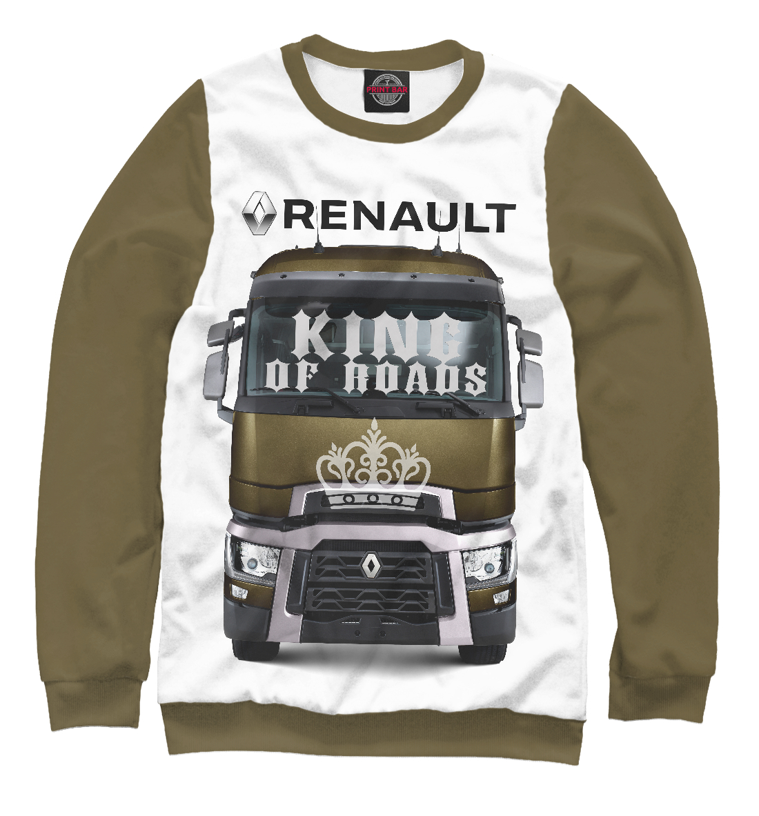 Купить RENAULT - король дорог, Printbar, Свитшоты, GRZ-918078-swi-1