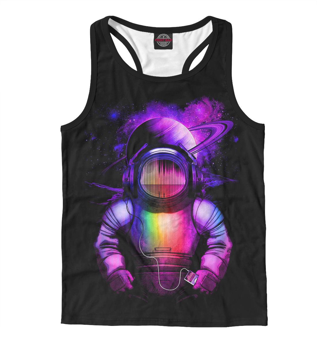 Купить Космонавт с айподом, Printbar, Майки борцовки, MZK-647553-mayb-2