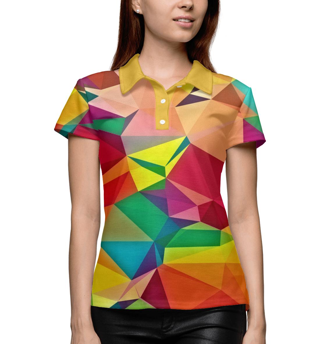 Купить Цветная абстракция, Printbar, Поло, ABS-277635-pol-1