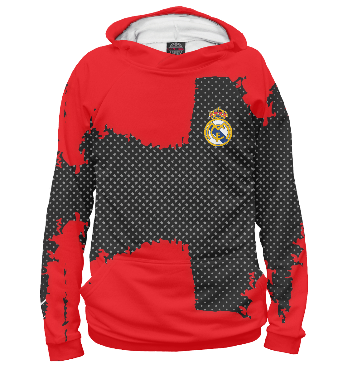 Купить Real Madrid sport uniform, Printbar, Худи, REA-105522-hud-1