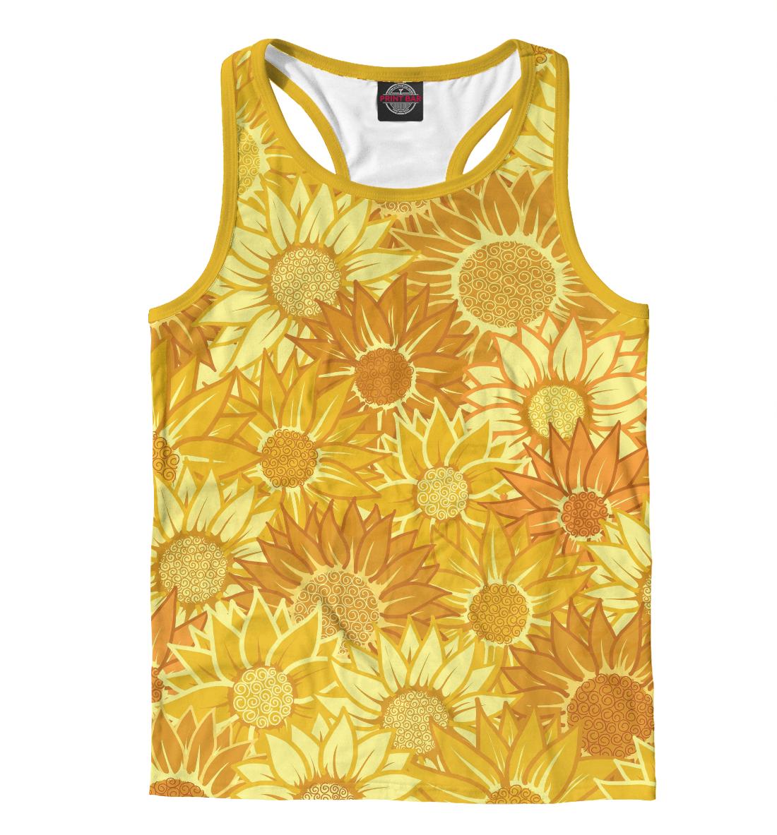 Купить Жёлтые цветы, Printbar, Майки борцовки, CVE-931660-mayb-2