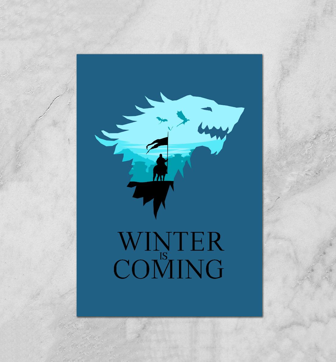 Купить Старки / Зима близко, Printbar, Плакаты, IGR-975359-plk