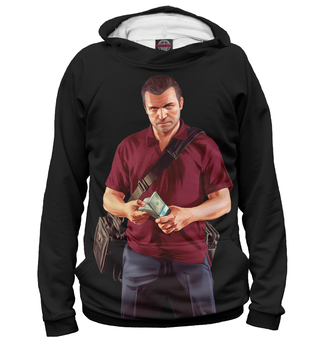 Купить GTA 5 Майкл, Printbar, Худи, ROC-591075-hud-1