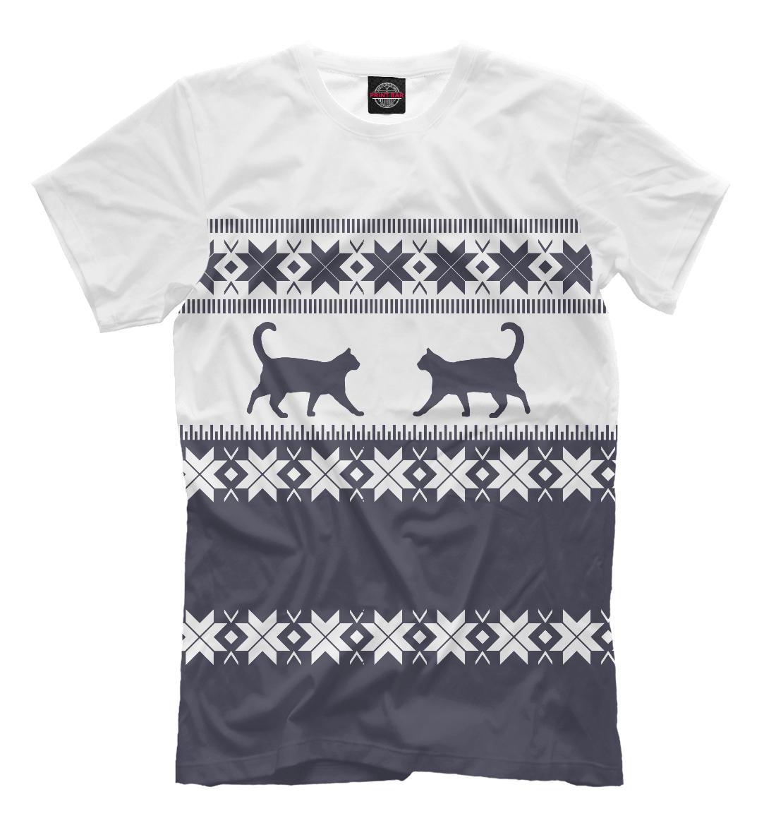 Купить Зимний свитер с котиками, Printbar, Футболки, CAT-235588-fut-2