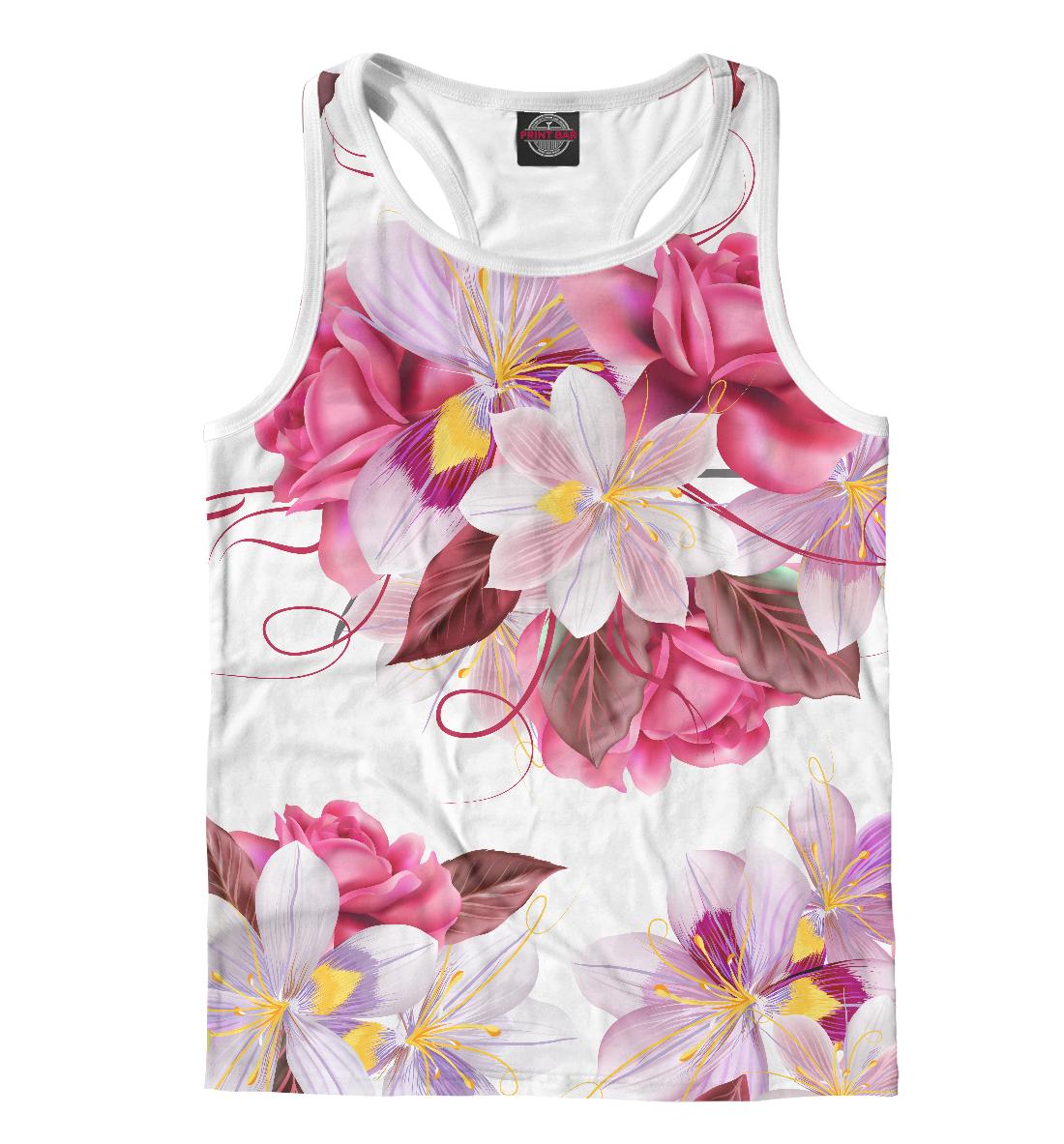 Купить Прекрасные цветы, Printbar, Майки борцовки, CVE-210208-mayb-2