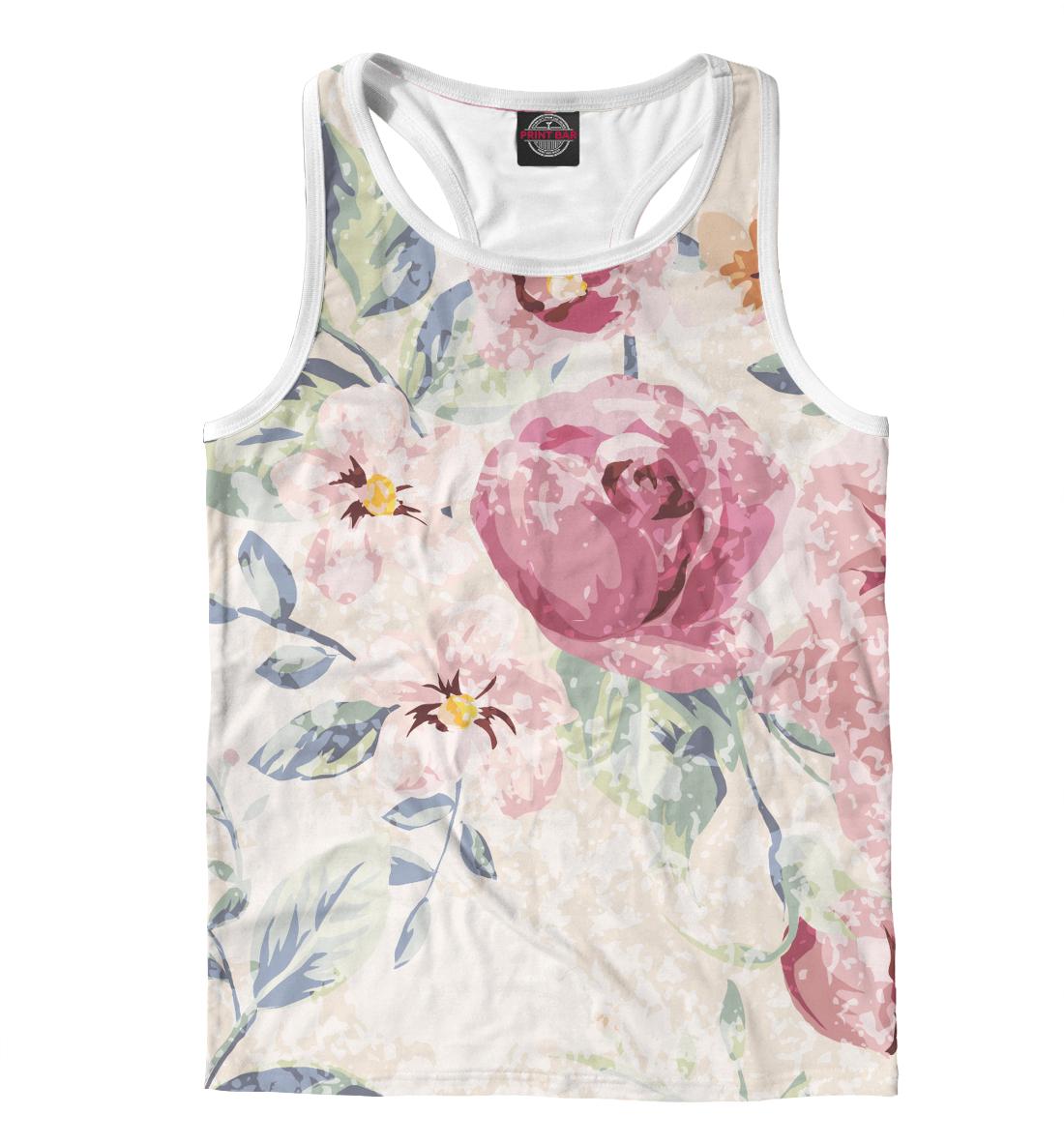 Купить Крупные цветы, Printbar, Майки борцовки, CVE-423206-mayb-2