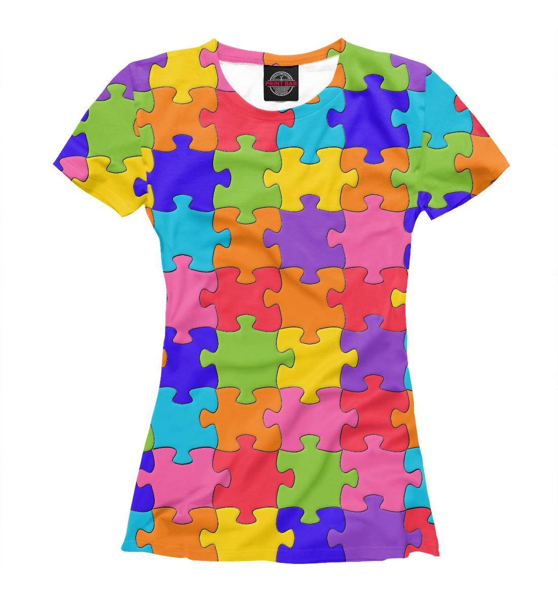 Купить Разноцветный Пазл, Printbar, Футболки, APD-575678-fut-1
