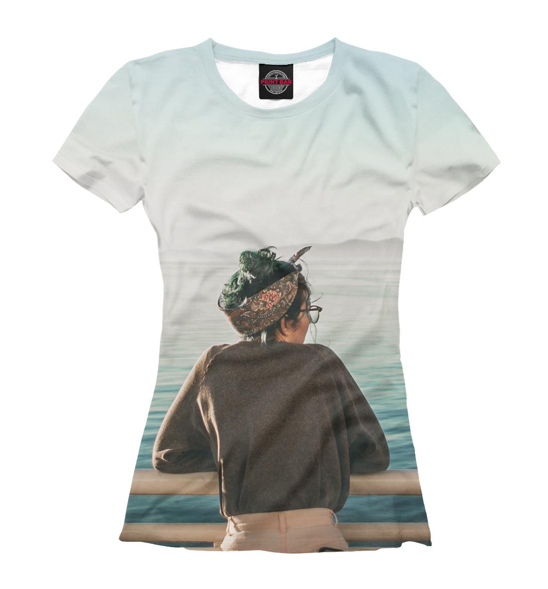 Купить Девушка на фоне моря, Printbar, Футболки, DVU-732411-fut-1