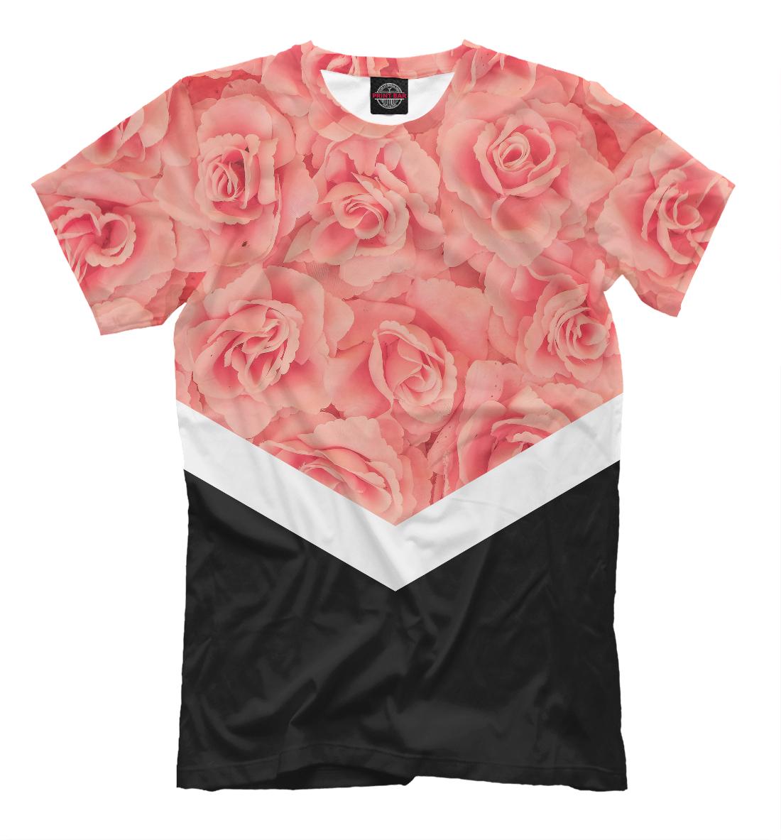 Купить Розовые Розы, Printbar, Футболки, CVE-833801-fut-2