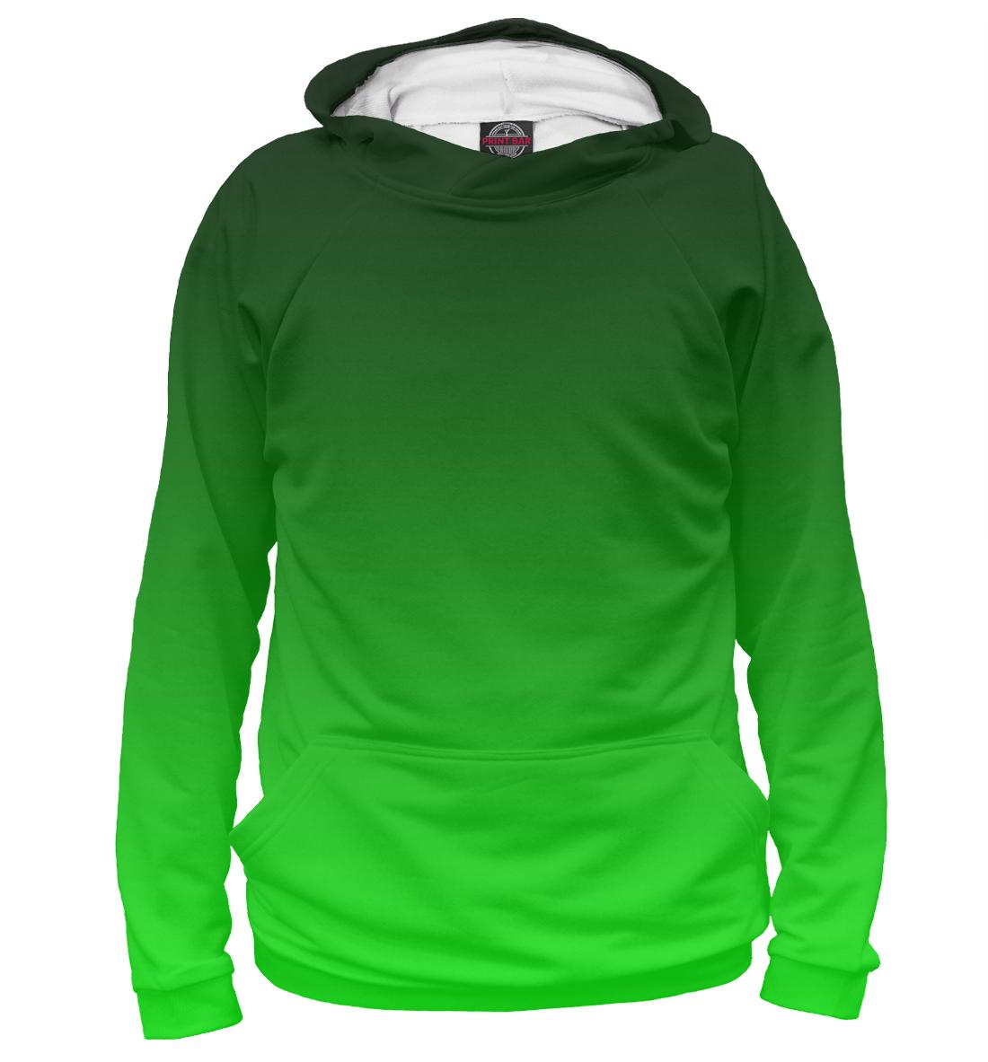 Купить Градиент Зеленый в Черный, Printbar, Худи, CLR-327769-hud-1