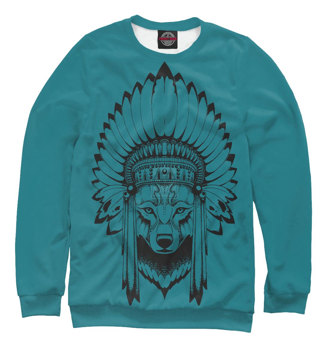 Купить Волк индеец, Printbar, Свитшоты, DAR-682157-swi-1