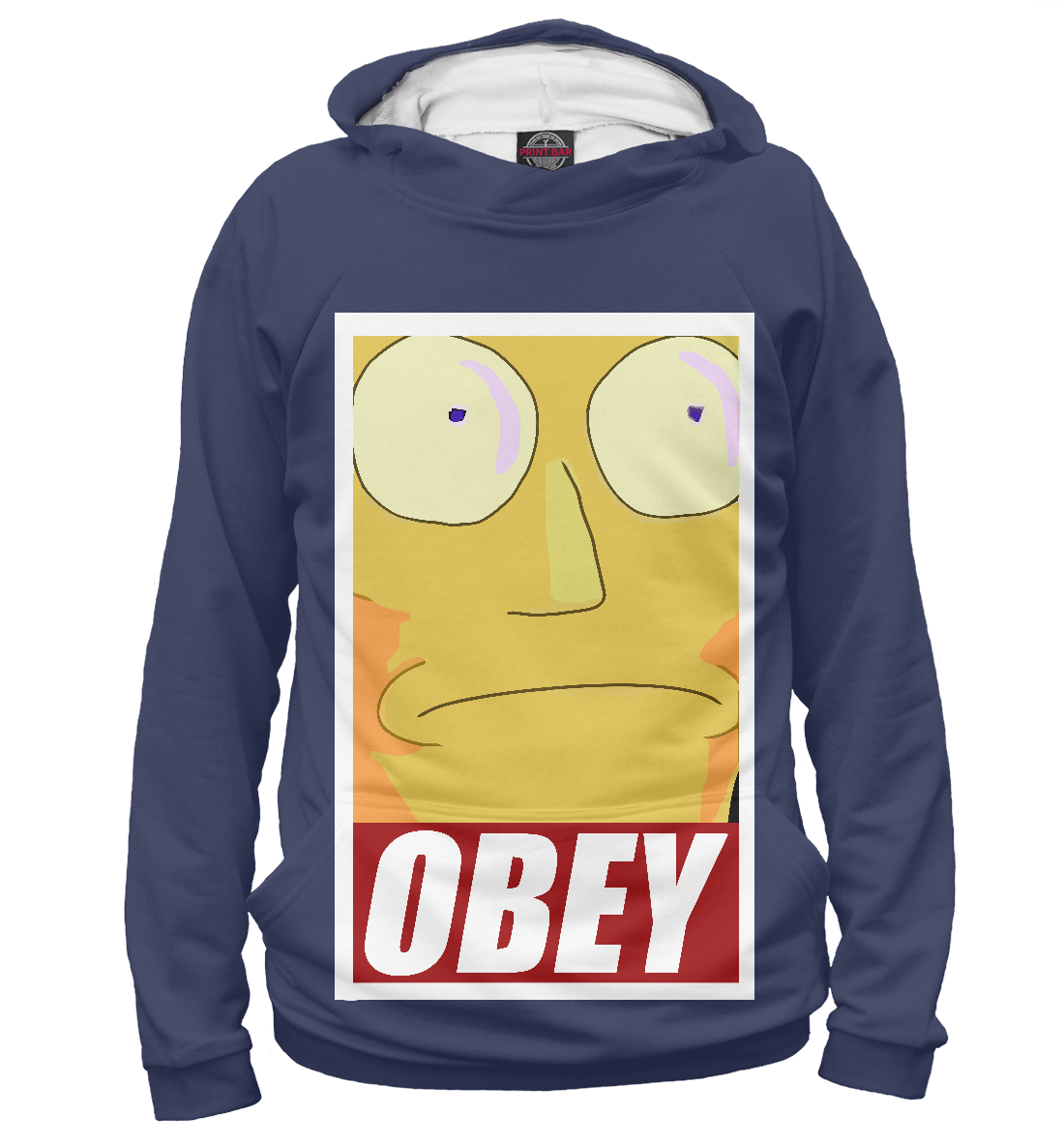 Купить OBEY - Rick and Morty, Printbar, Худи, RNM-420541-hud-2