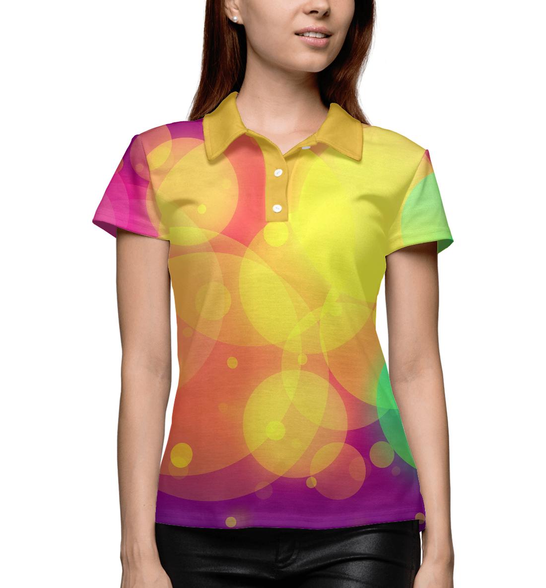 Купить Цветные блики, Printbar, Поло, APD-940431-pol-1